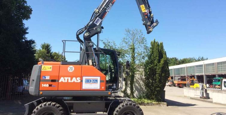 Neu im Einsatz – Mobilbagger Atlas 140W!