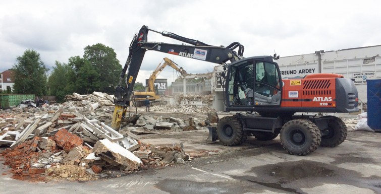 Rückbauarbeiten in Dortmund-Hörde