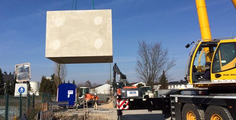 Entlastungsbauwerk für Starkregen – H+H Deutschland GmbH