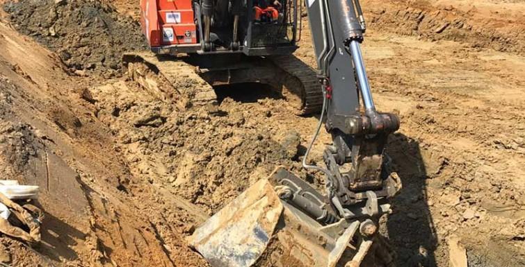 """Schwere Erdarbeiten im Baugebiet """"Grüner Winkel"""" Hamm"""