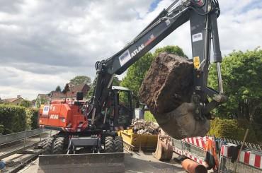 Kanalbauarbeiten im Marderweg – Hamm