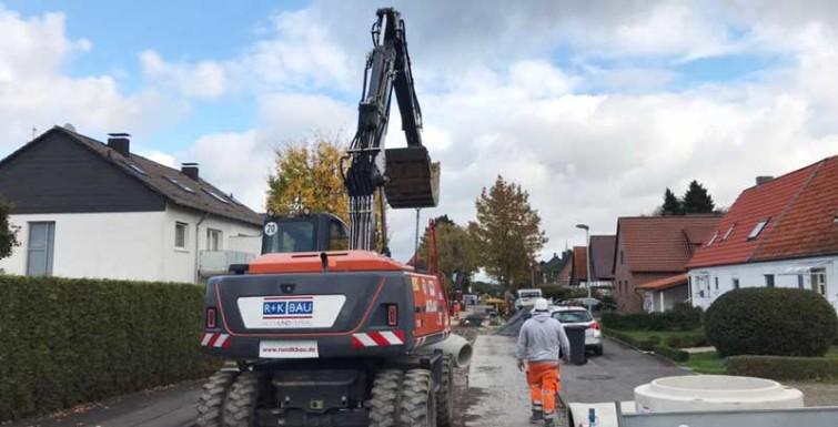 Kanal- und Straßenbaumaßnahme – Unna-Lünern