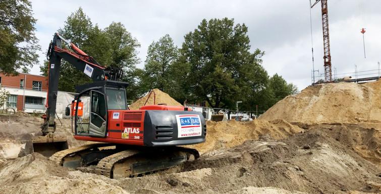 Erdarbeiten Entwässerung // Stadttor Ost Hamm