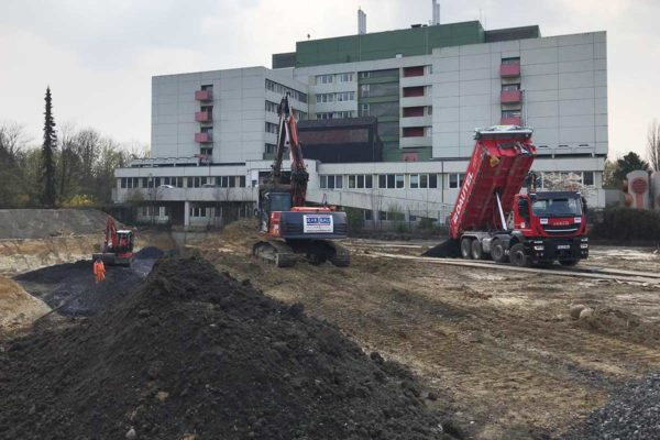 "Bodenaushub Tiefgarage // ""Parkquartier"" in Hamm"