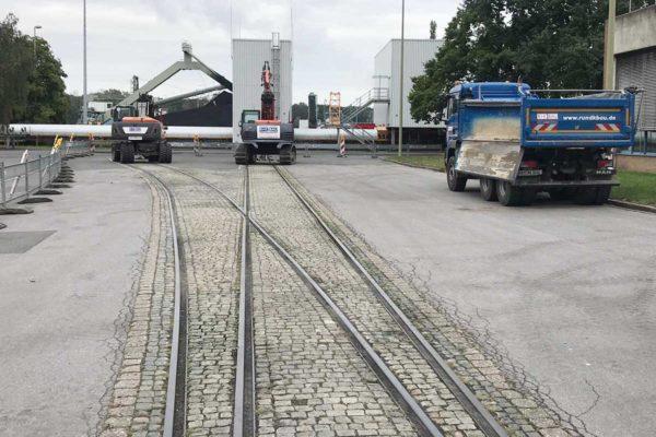 RWE Kraftwerk Westfalen – Rückbau Gleisanlage der alten Bekohlung