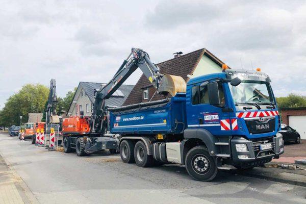 Straßen- und Kanalbaumaßnahme in Bockum-Hövel
